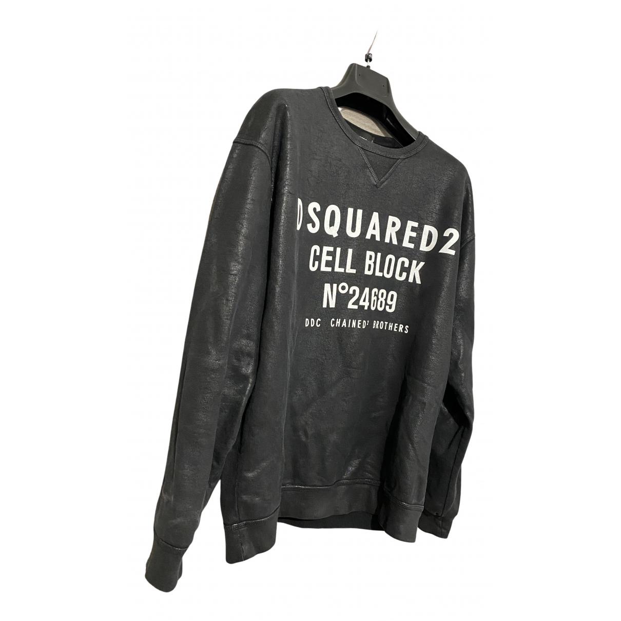 Dsquared2 \N Pullover.Westen.Sweatshirts  in  Anthrazit Baumwolle