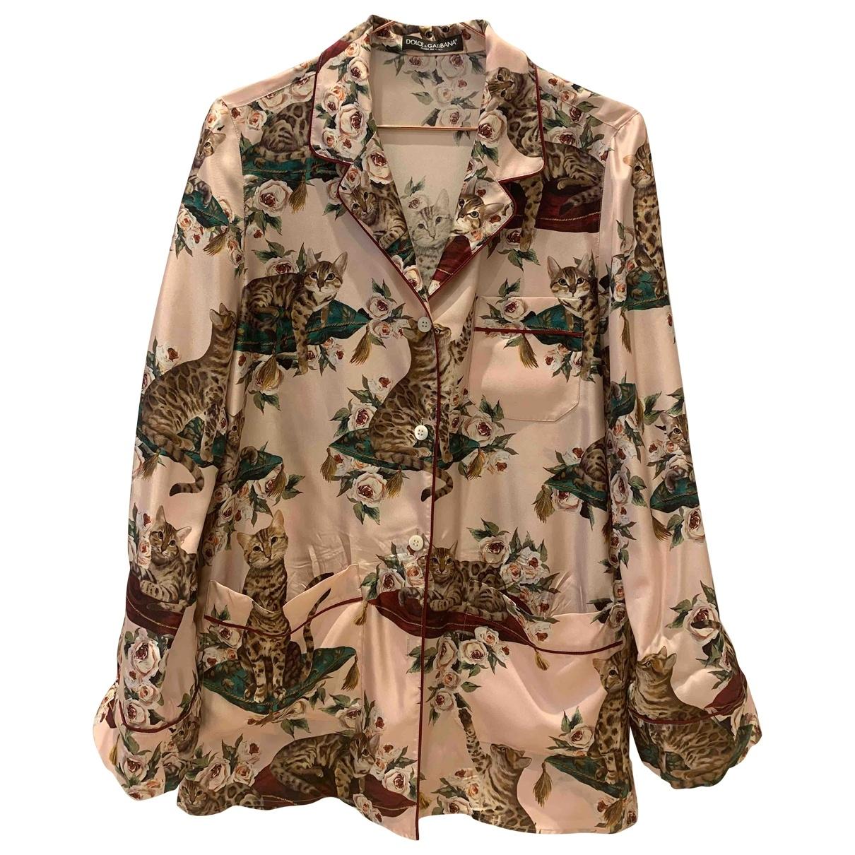 Dolce & Gabbana \N Top in  Bunt Seide