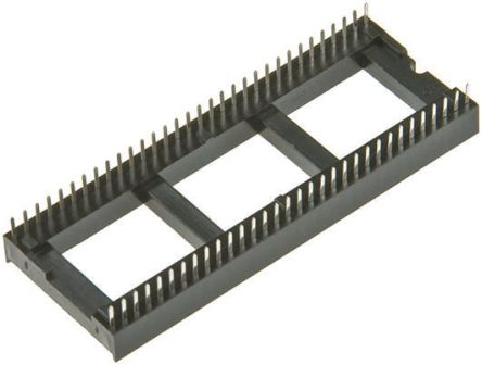 Winslow 1.77mm Pitch Vertical 42 Way, Through Hole Stamped Pin Open Frame IC Dip Socket, 10A (16)
