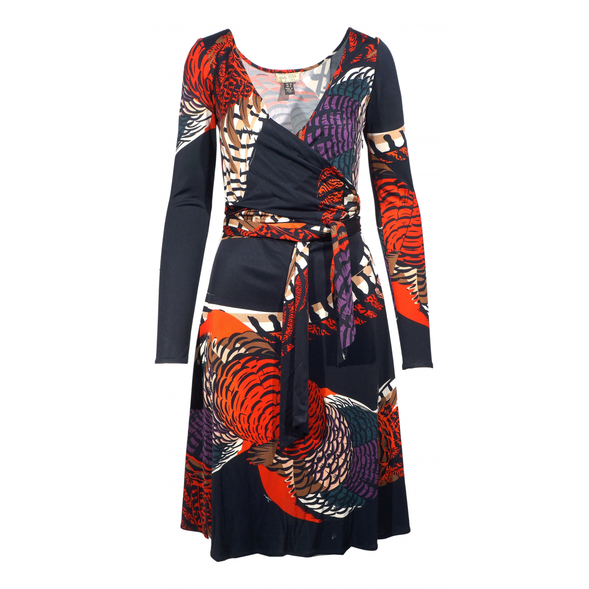Issa \N Kleid in  Schwarz Seide