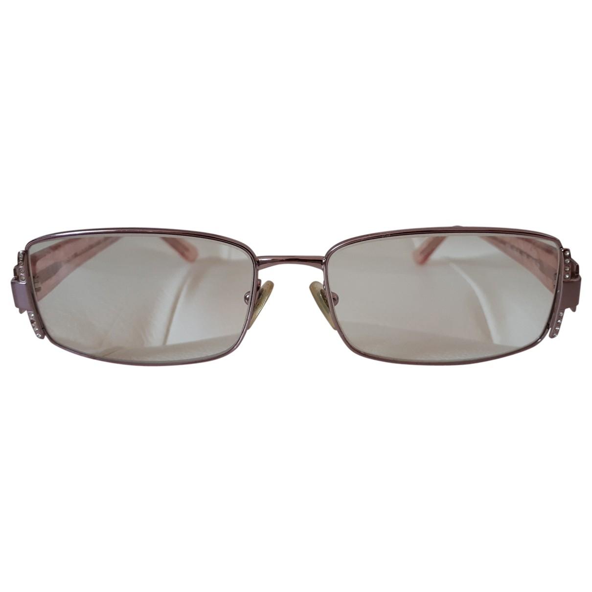 Versace \N Pink Metal Sunglasses for Women \N