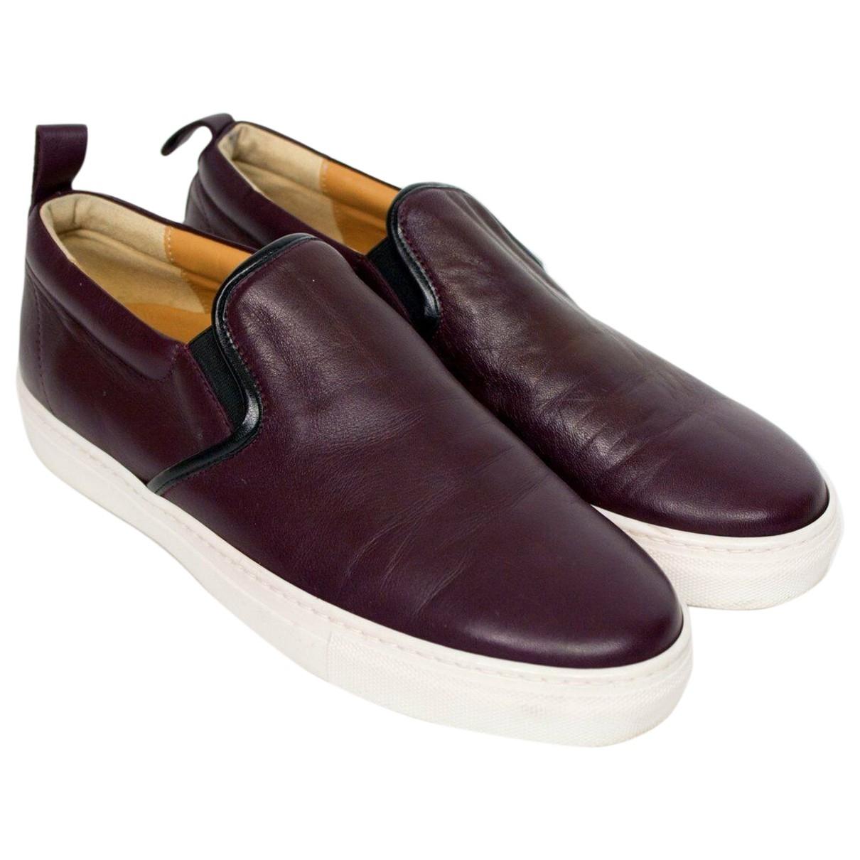 Fabio Rusconi \N Sneakers in  Bordeauxrot Leder