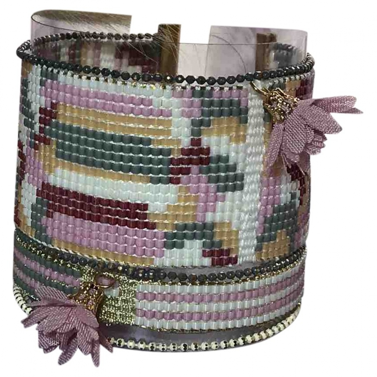 Non Signe / Unsigned \N Armband in  Bunt Glas