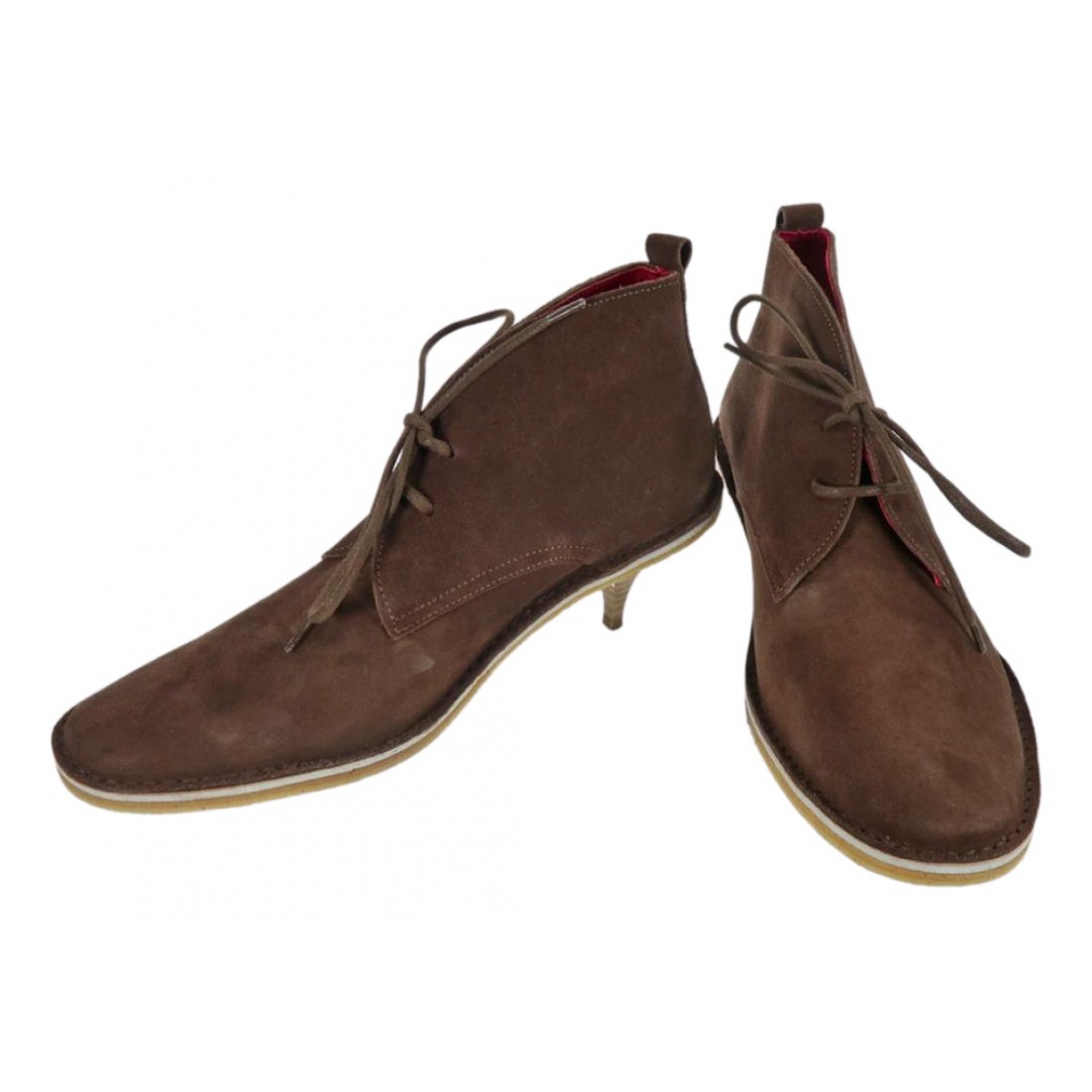 Pierre Hardy - Boots   pour femme en suede - marron
