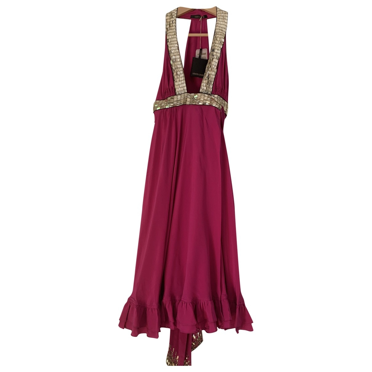 Roberto Cavalli \N Pink Silk dress for Women 40 IT