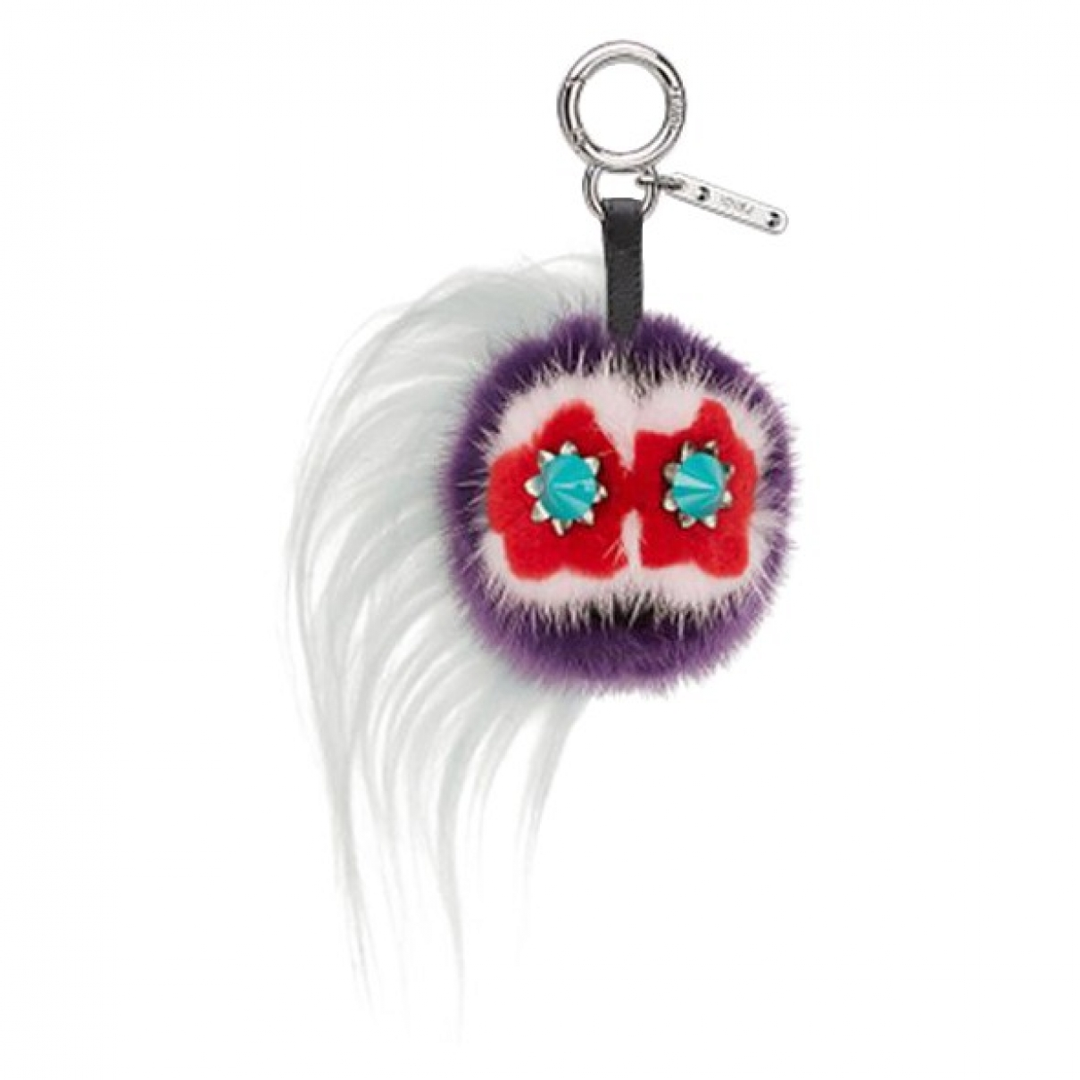 Fendi Bag Bug Multicolour Fur Bag charms for Women \N