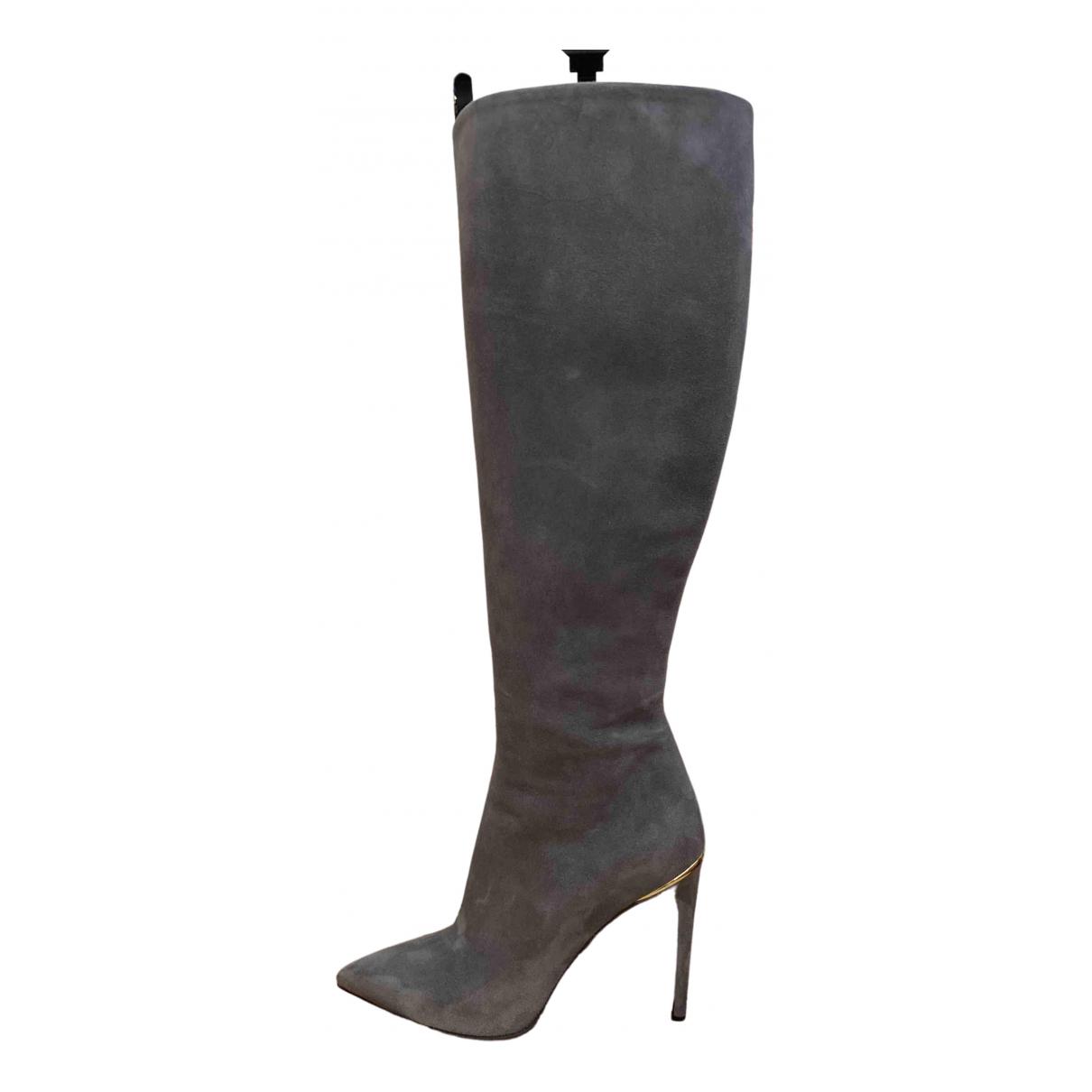Louis Vuitton \N Grey Suede Boots for Women 37 EU