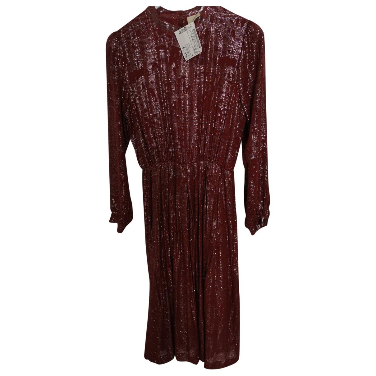 Julie Fagerholt Heartmade \N Kleid in  Bordeauxrot Seide