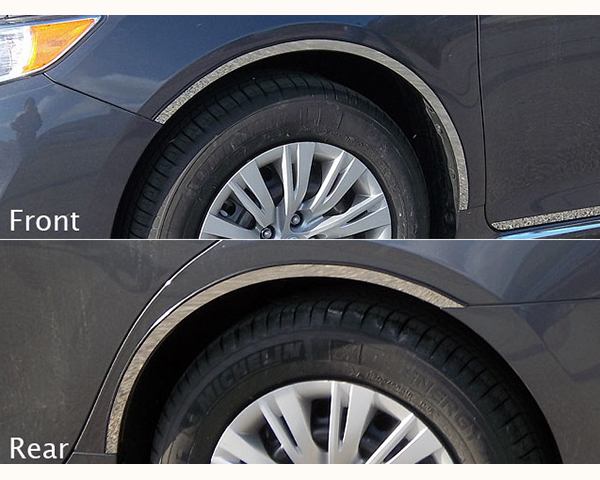 Quality Automotive Accessories 4-Piece Stainless Steel Wheel Well Fender Trim Kit Toyota Camry 2013