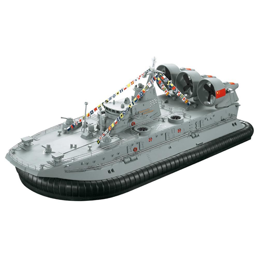 HG HG-C201 1/110 2.4G Brushless Warship Ship Model Landing And Water Air Cushion Landing Craft RC Boat RTR - Gray