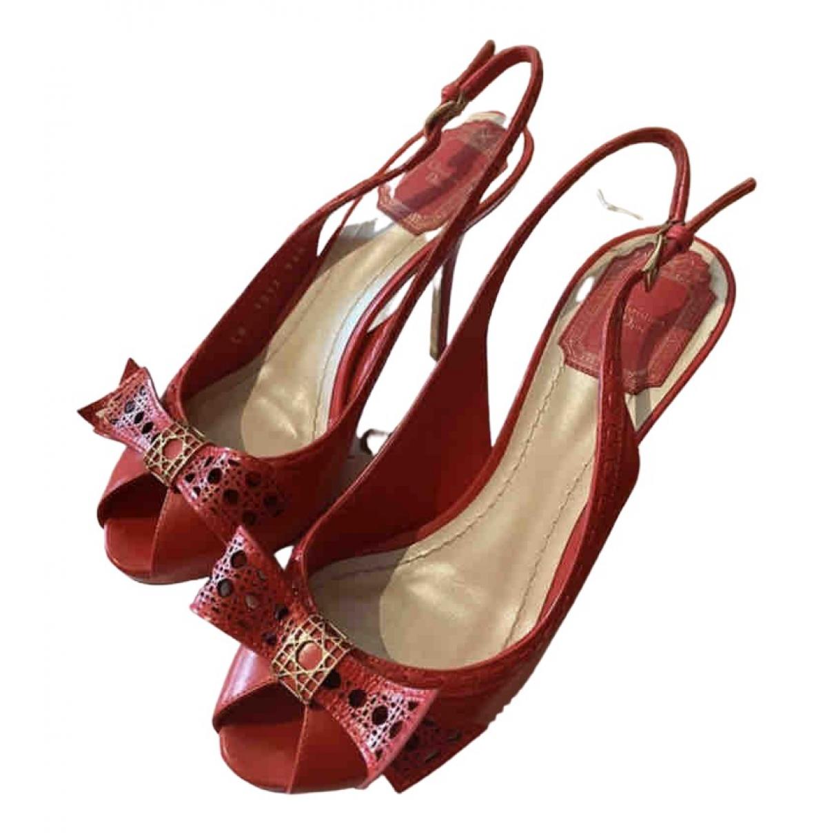 Dior \N Pumps in  Rot Leder