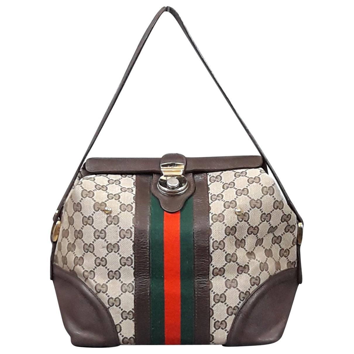 Gucci \N Handtasche in  Ecru Leinen