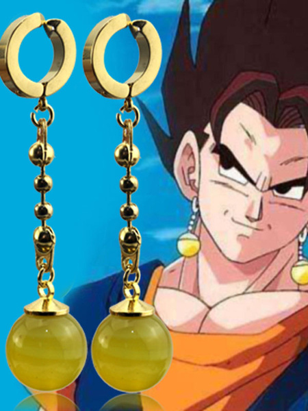 Milanoo Dragonball Cosplay Costume Dragon Ball Super Broli Goku Black Earrings