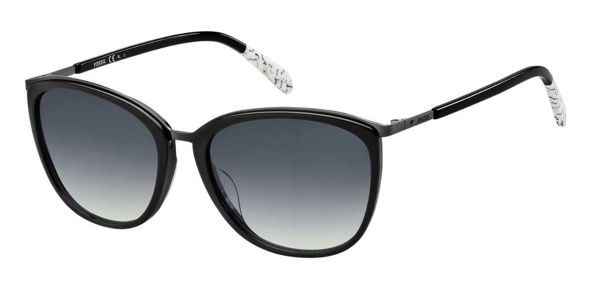 Fossil FOS 2091/G/S 807/9O Women's Sunglasses Black Size 56