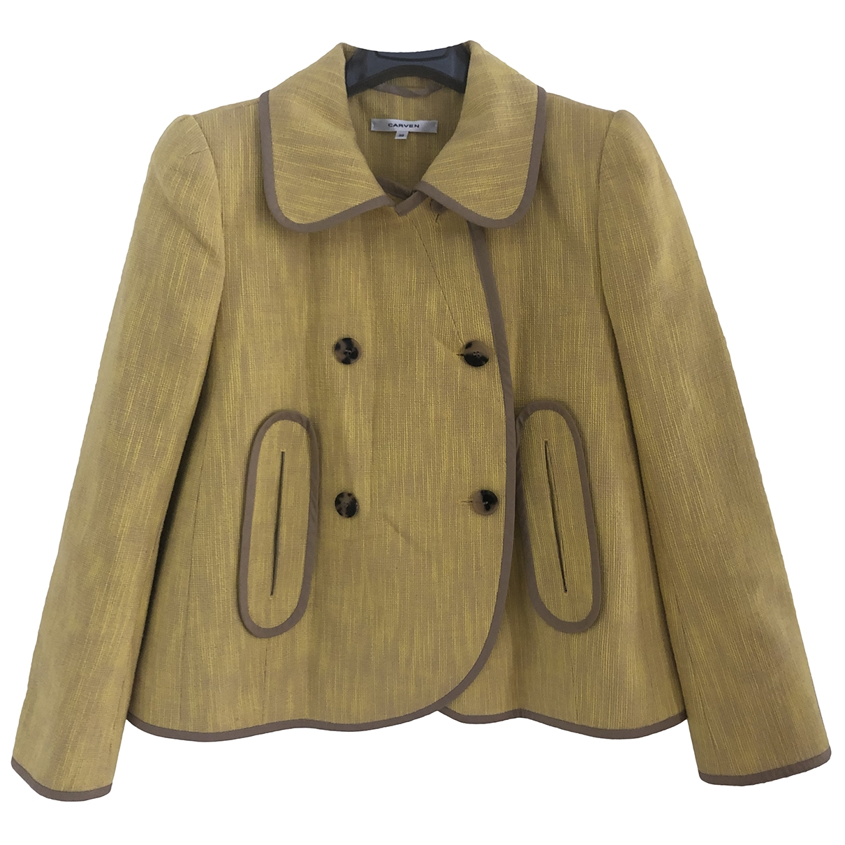 Carven \N Yellow Cotton jacket for Women 38 IT