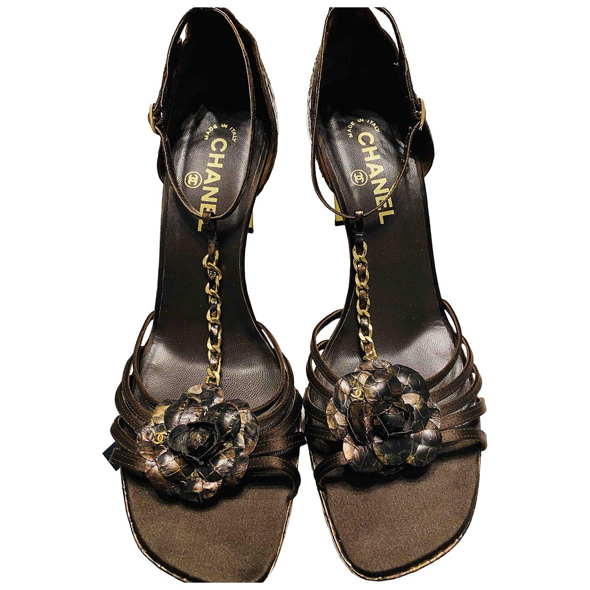 Sandalias de Piton Chanel