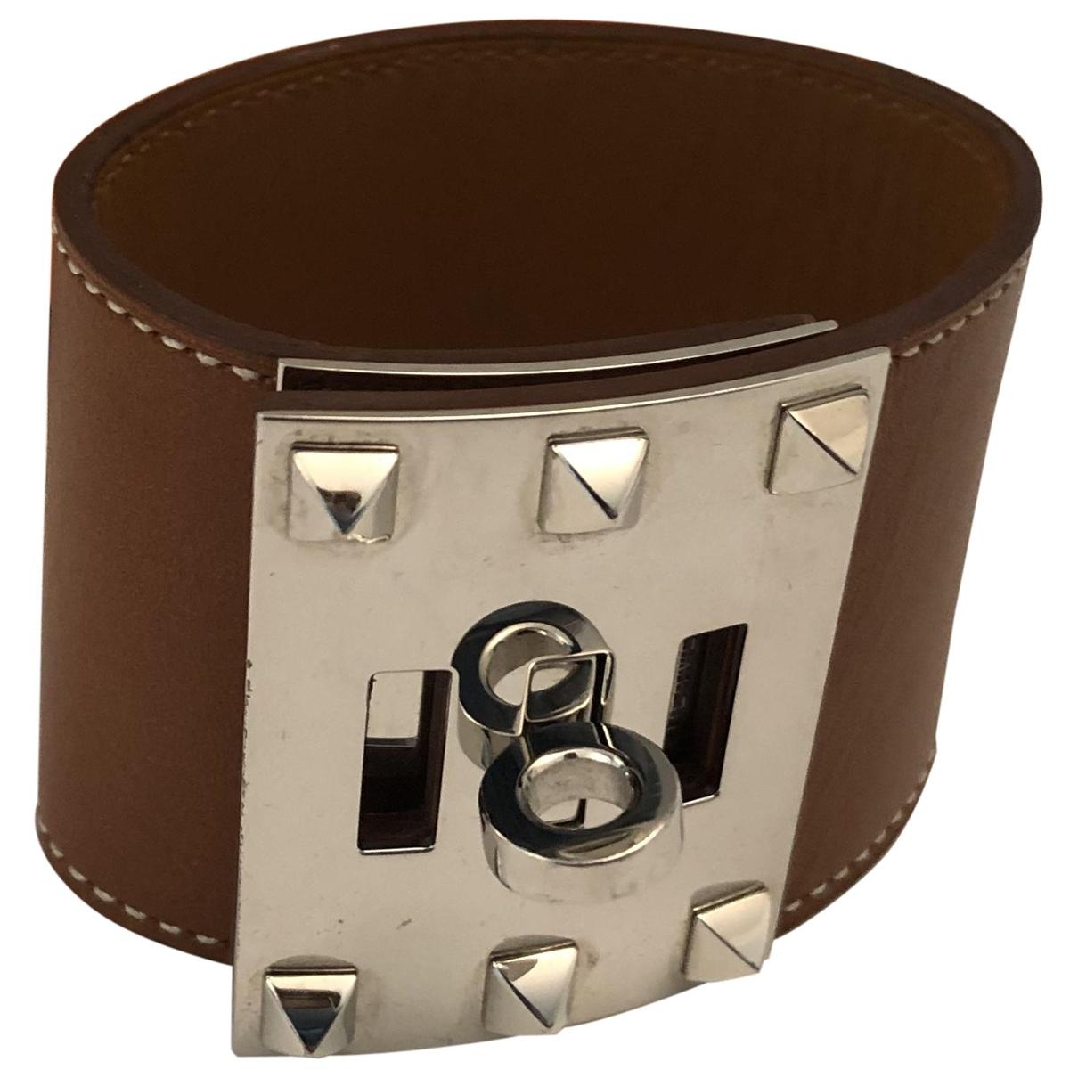 Hermes Extreme Armband in  Braun Leder