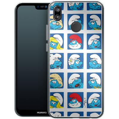 Huawei P20 Lite Silikon Handyhuelle - Smurf Squares von The Smurfs
