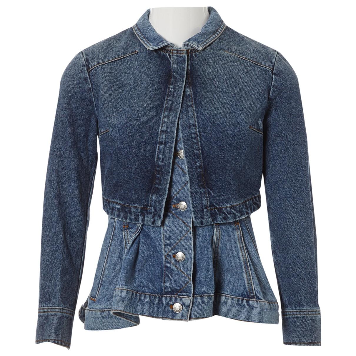 Alexander Mcqueen \N Blue Denim - Jeans jacket for Women 38 IT