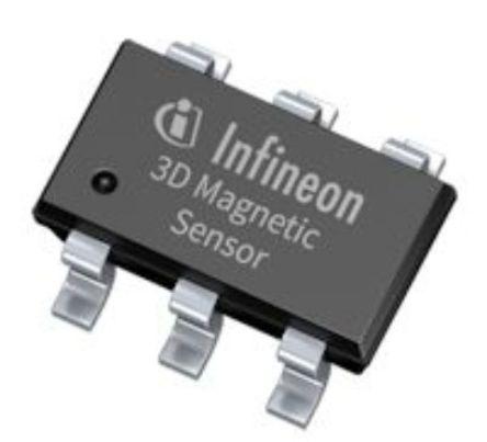 Infineon TLE493D-A2B6 , Hall Effect Sensor, 6-Pin PG-TSOP (3000)