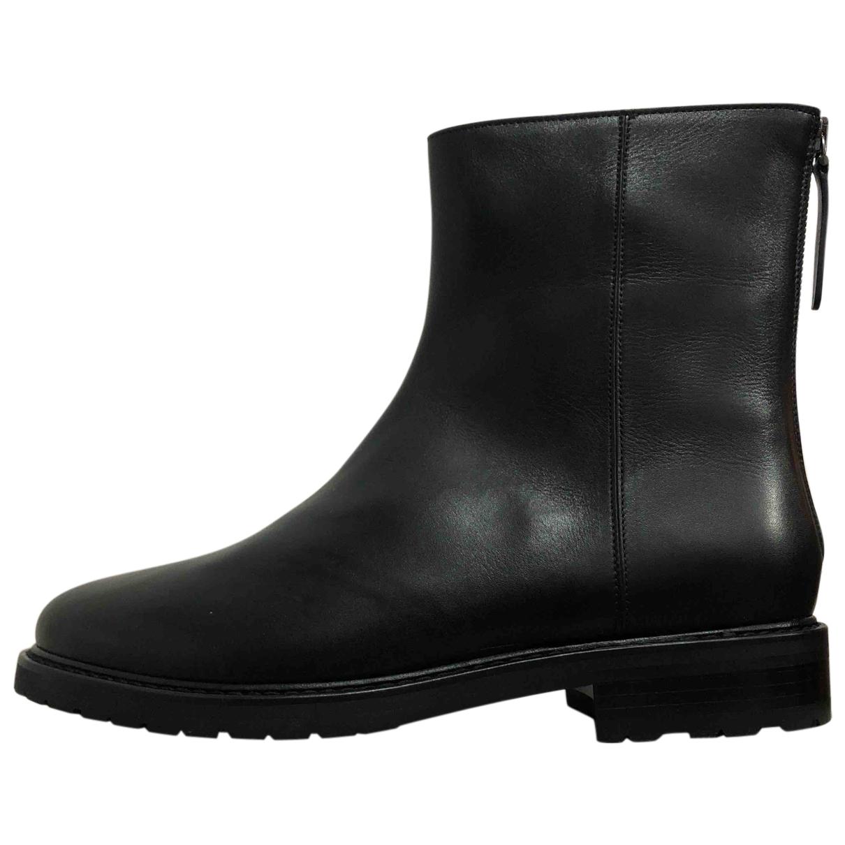 Autre Marque - Boots   pour femme en cuir - noir