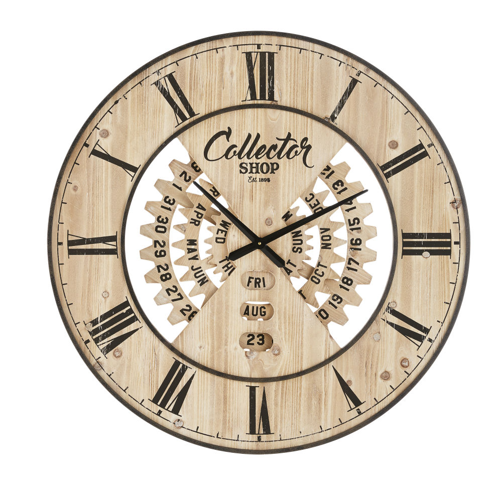 Wanduhr mit ewigem Kalender, zweifarbig D90