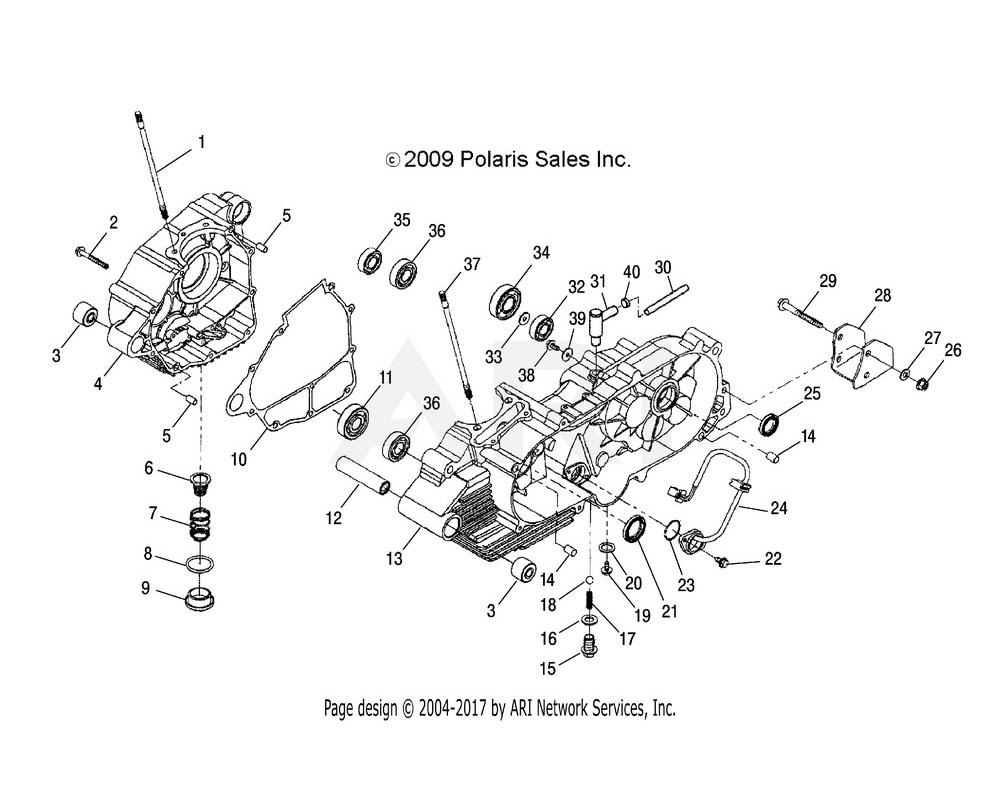 Polaris OEM 0452319 BUSHING, RUBBER