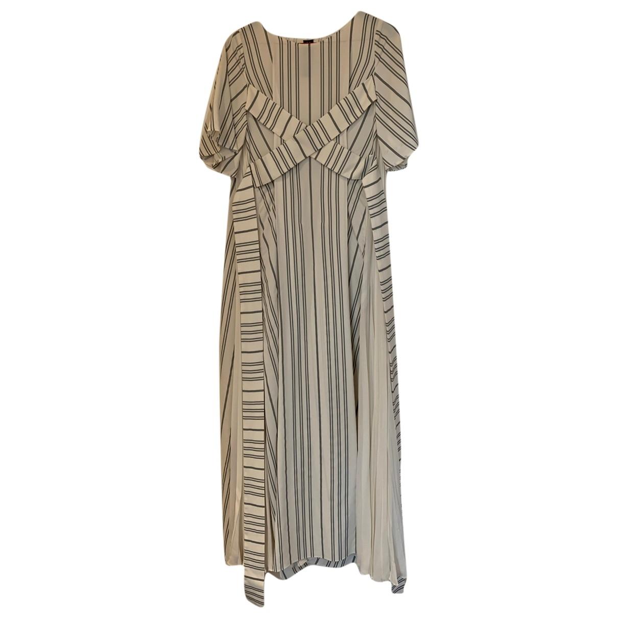 Non Signe / Unsigned Oversize Kleid in  Weiss Viskose