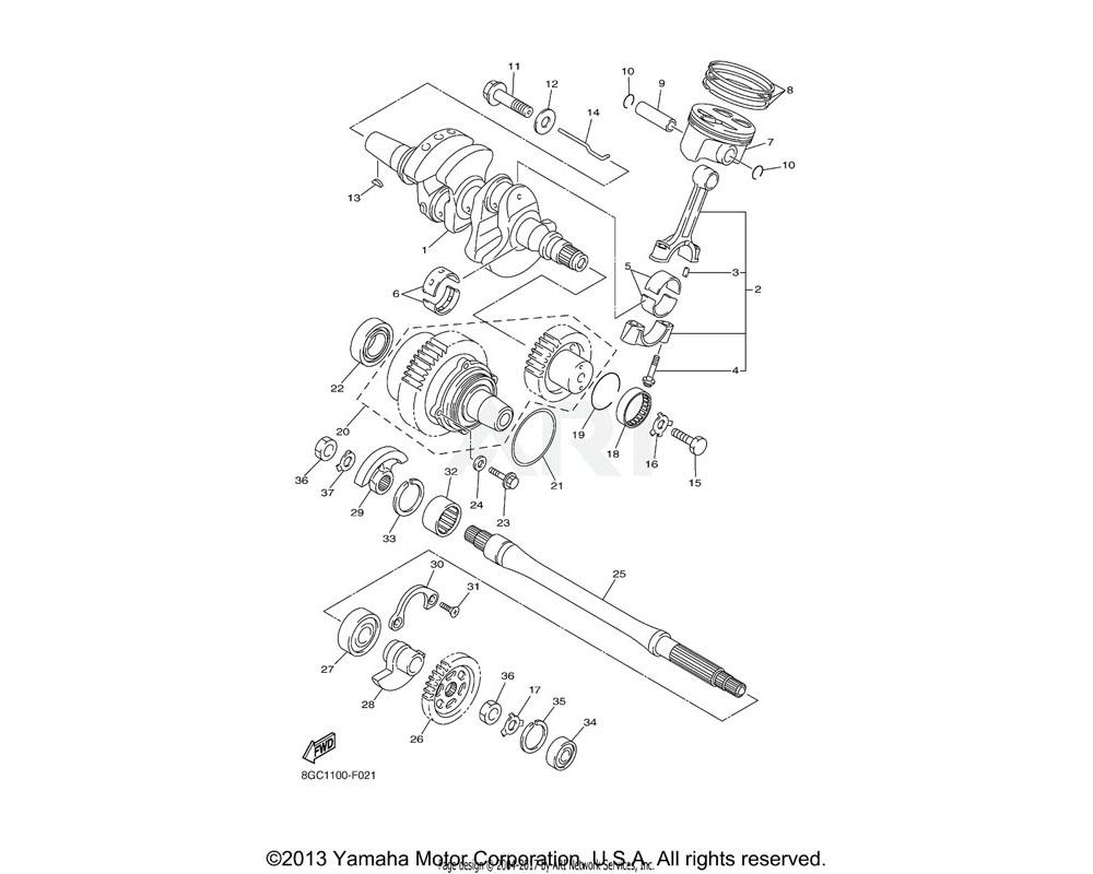 Yamaha OEM 5VY-11654-01-00 BOLT, CONNECTING ROD