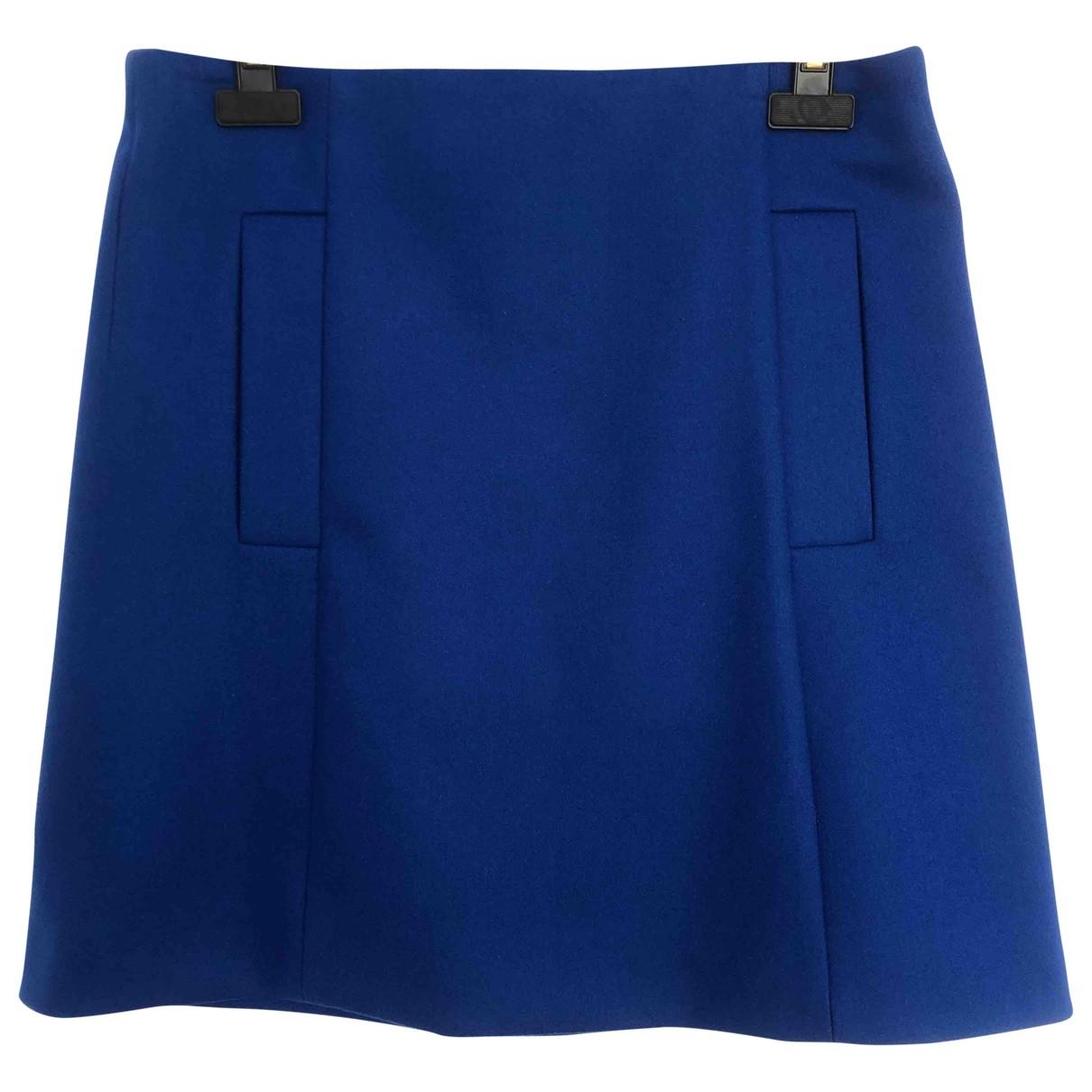 Cos - Jupe   pour femme en laine - bleu