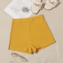 Strick Shorts mit elastischer Taille