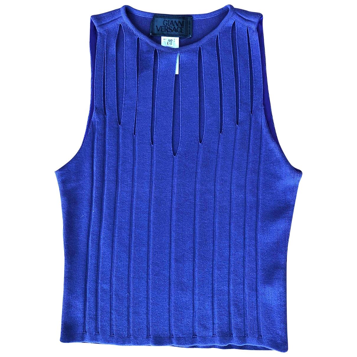 Gianni Versace \N Purple Cotton  top for Women 40 IT