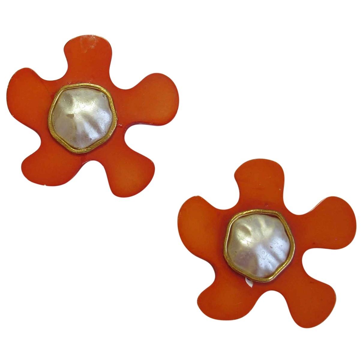 Chanel - Boucles doreilles   pour femme - orange