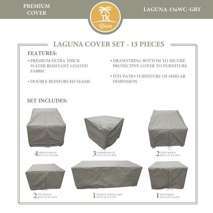 LAGUNA-13aWC-GRY Protective Cover Set  for LAGUNA-13a in
