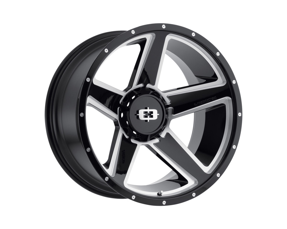 Vision Empire Gloss Black Milled Spoke Wheel 20x11.5 8x165.1 -44