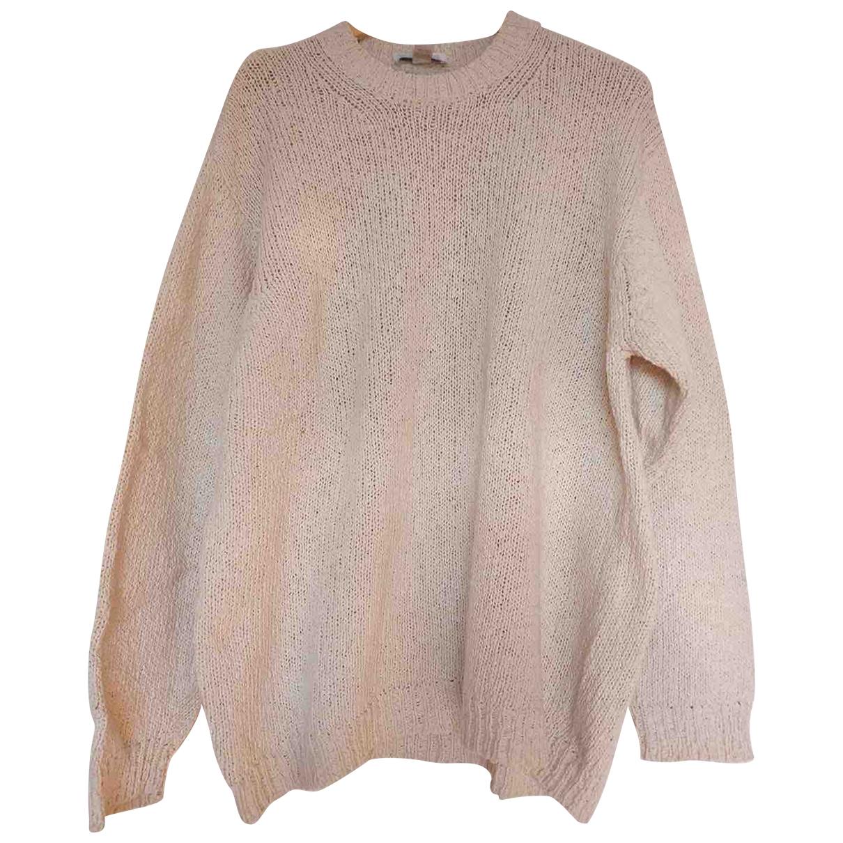 Non Signe / Unsigned \N Pullover.Westen.Sweatshirts  in  Ecru Baumwolle
