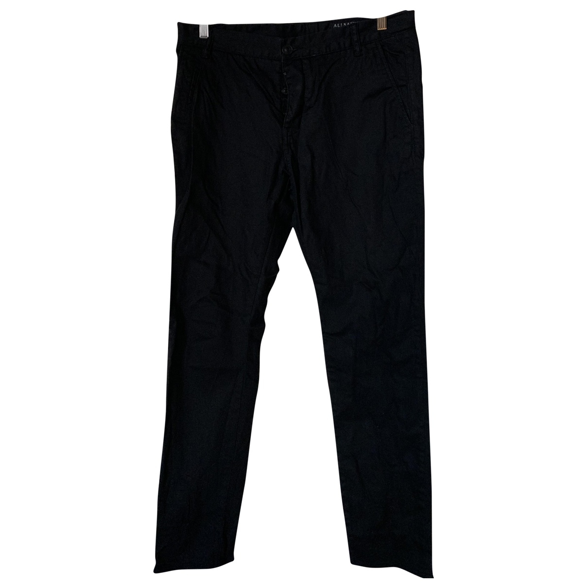 All Saints \N Black Cotton Trousers for Men 32 UK - US