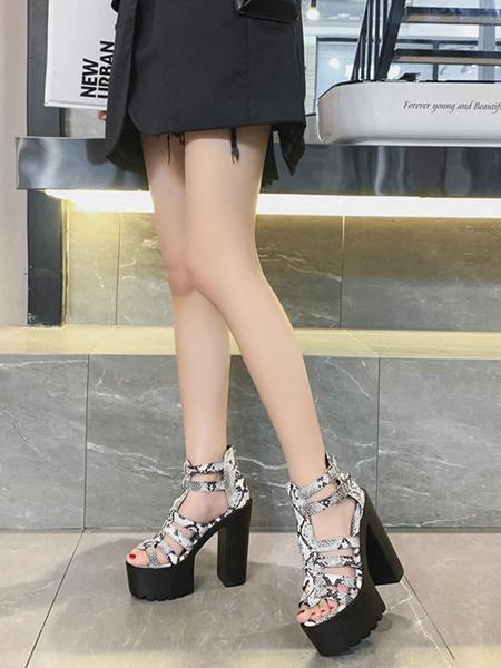 Milanoo Sexy Platform Sandals Rubber Platform Chunky Chic Sexy Women\s Sandals