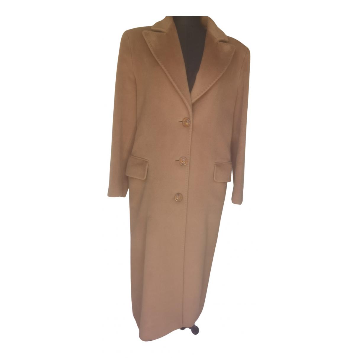 - Manteau   pour femme en cachemire - camel