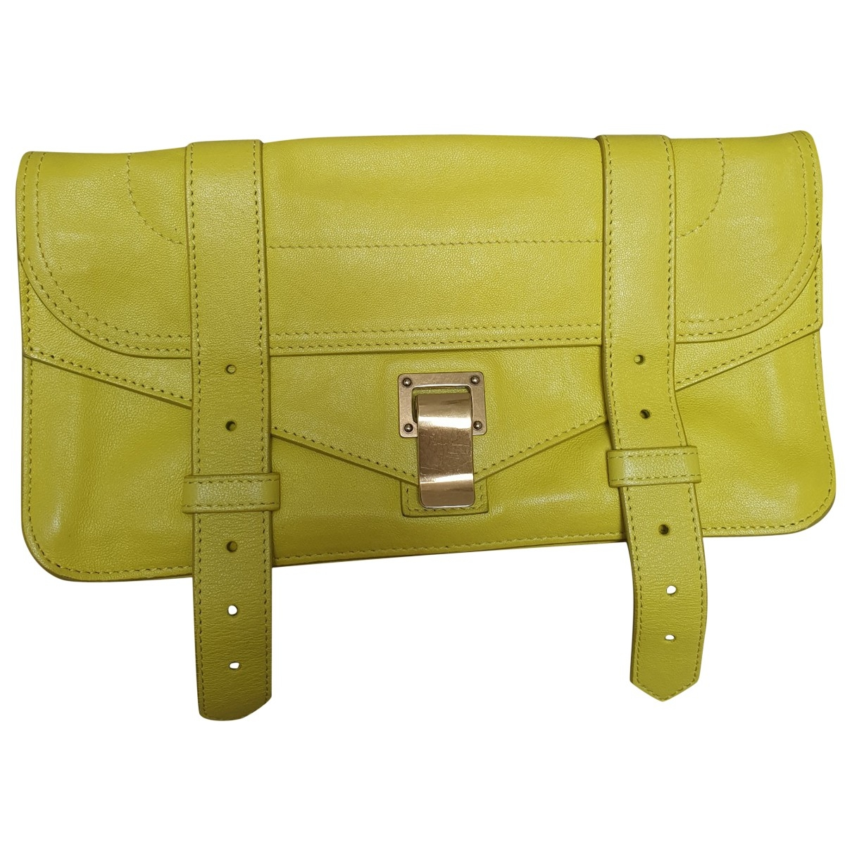 Proenza Schouler PS1 Tiny  Yellow Leather Clutch bag for Women \N