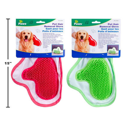 Pet Grooming Glove Deshedding Tool Pet Hair Removal Glove, 1 Randomized Color Per Pack