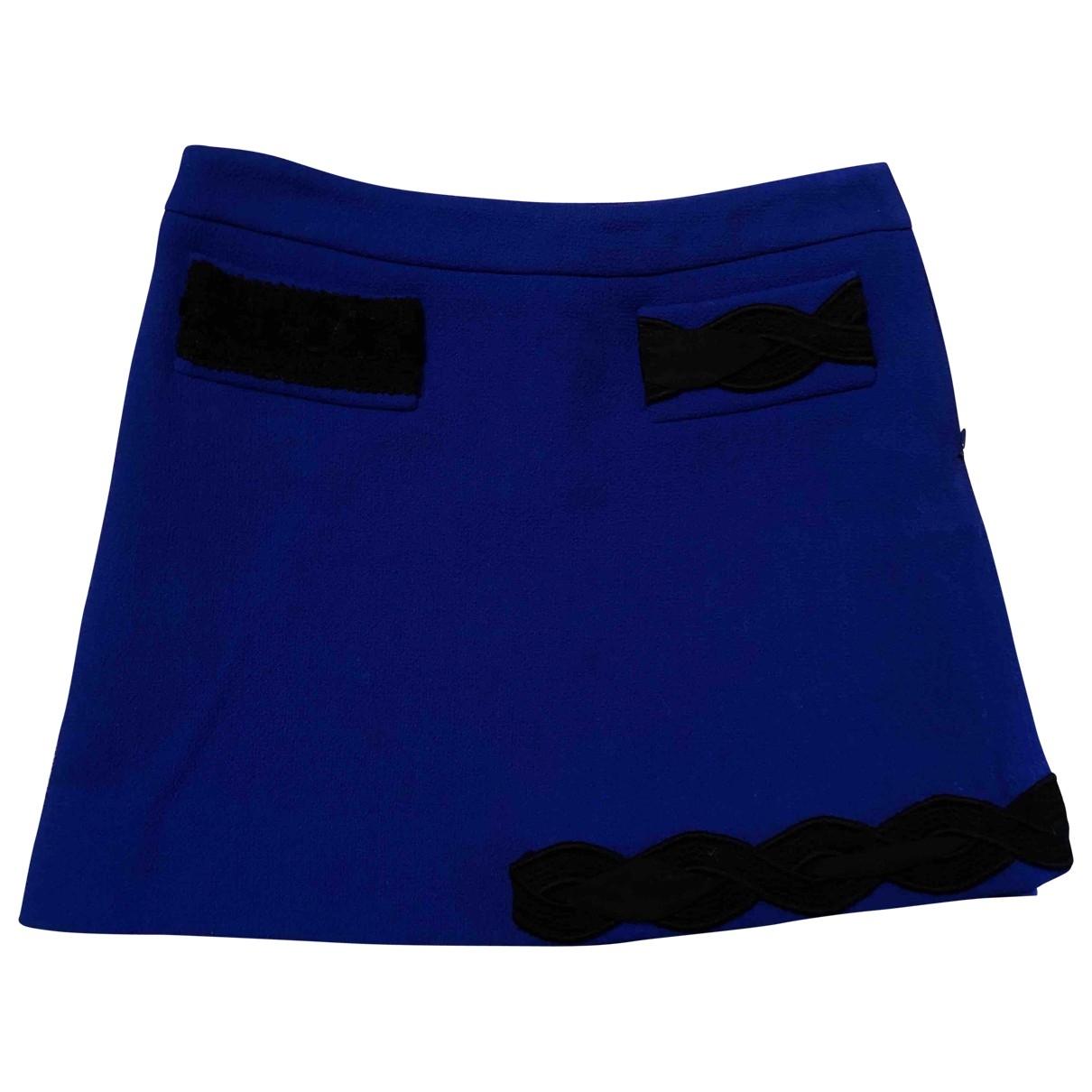 Moschino \N Blue Wool skirt for Women 40 IT