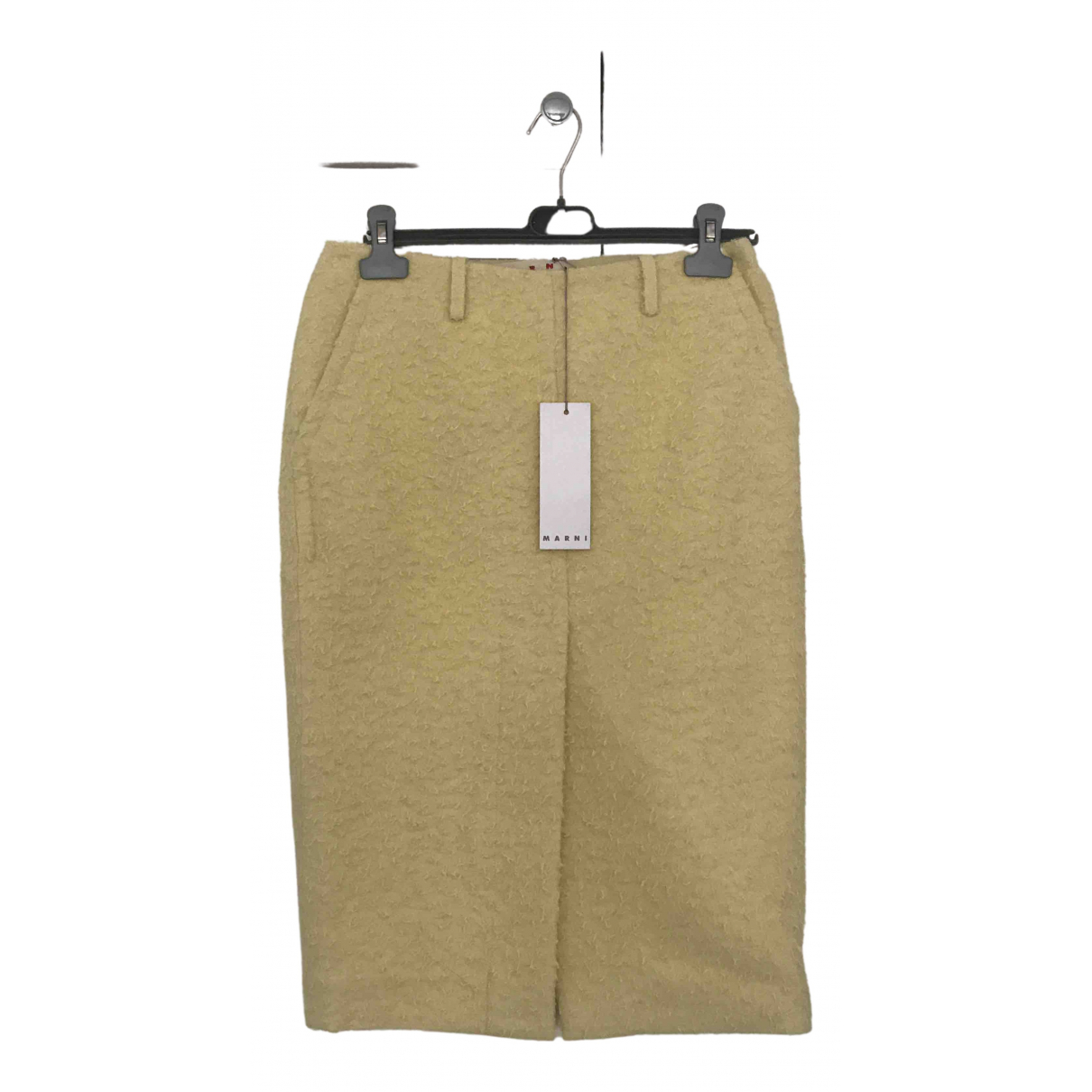 Marni \N Yellow Wool skirt for Women 40 IT