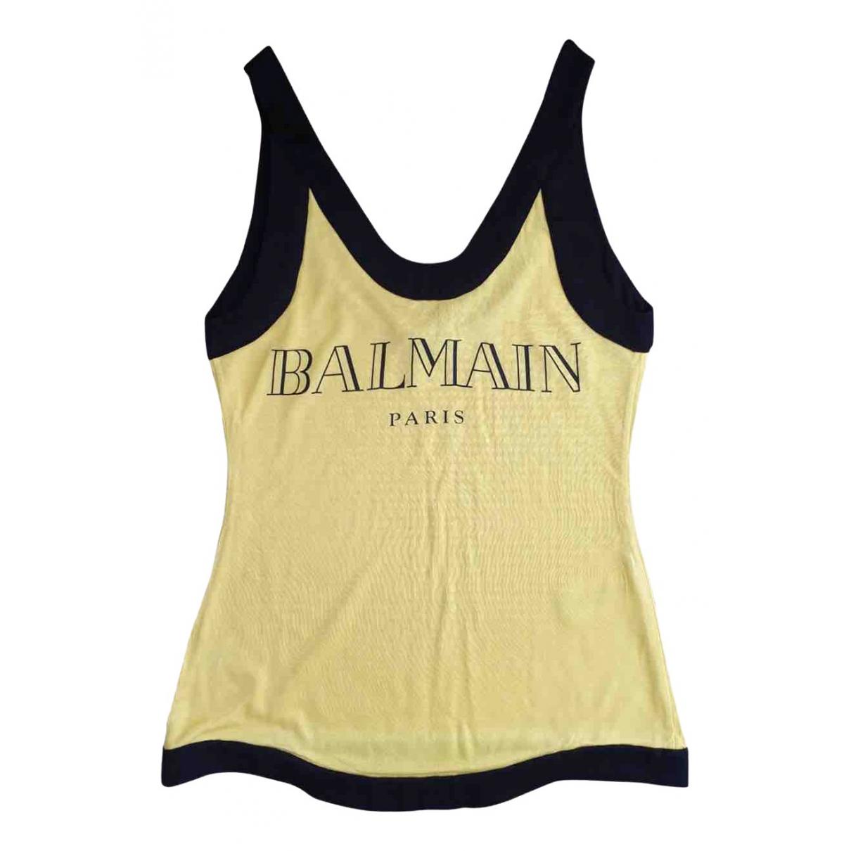 Balmain - Top   pour femme - jaune