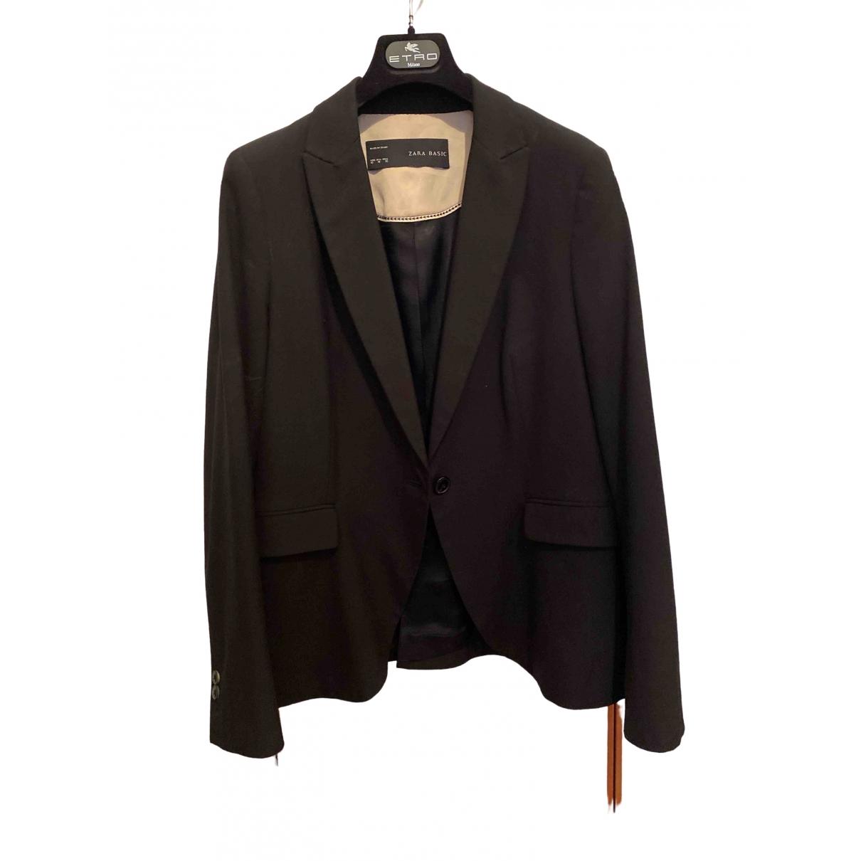 Chaqueta en Sintetico Negro Zara