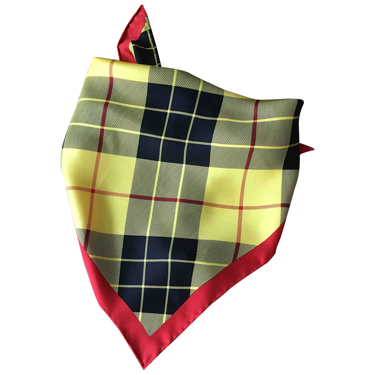 Burberry \N Yellow Silk scarf for Women \N