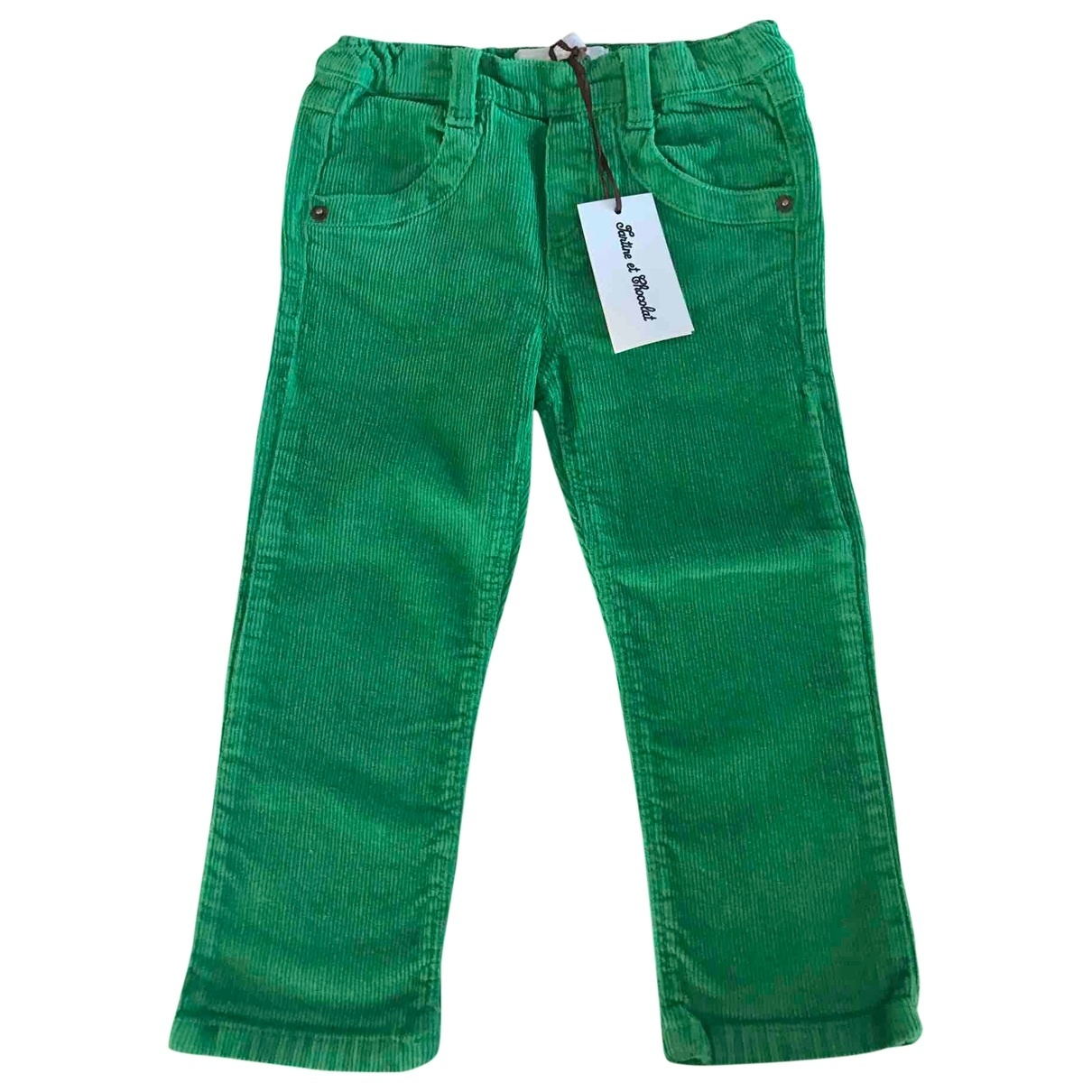Tartine Et Chocolat - Pantalon   pour enfant en coton - vert