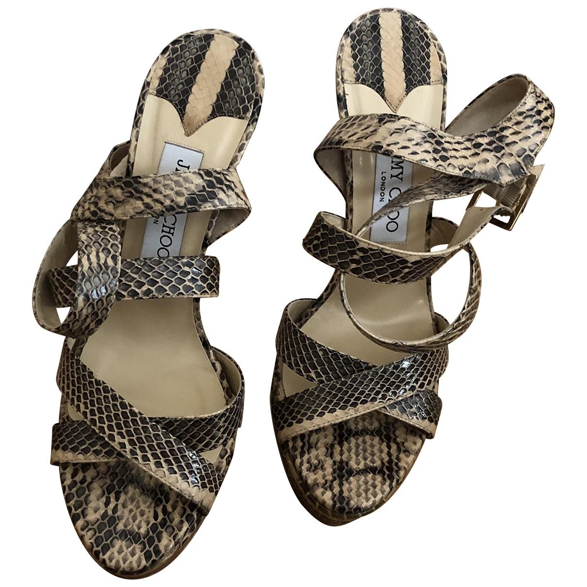 Jimmy Choo \N Sandalen in Wasserschlangen