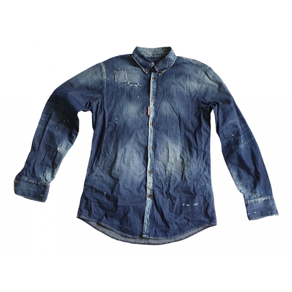 Dsquared2 \N Blue Cotton Shirts for Men XL International