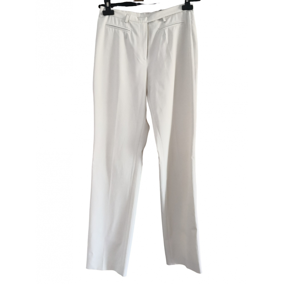 Non Signé / Unsigned \N Beige Trousers for Women 44 IT